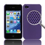 iPhone 4 /4s Perforated Backcover (Lilla)