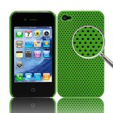 iPhone 4 /4s Perforated Backcover (Lysegrøn)