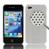 iPhone 4 /4s Perforated Backcover (Hvid)